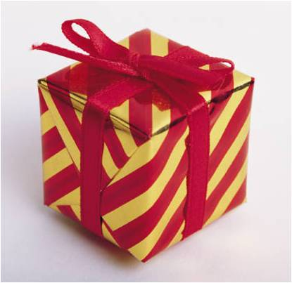 Gift wrapped box in red and gold st elisabeths episcopal church full size 415403px negle Images