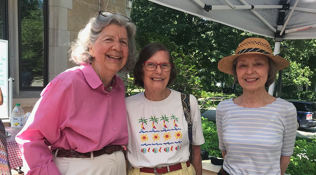 Three happy members of St. Elisabeth's