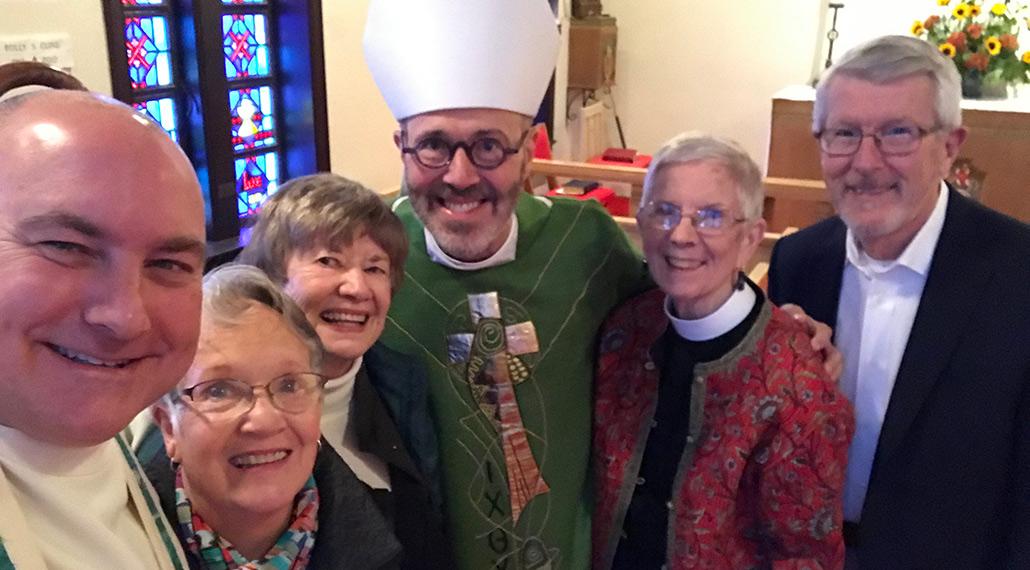 Rev. Goodman, Bishop Lee, and members of St. Elisabeth's