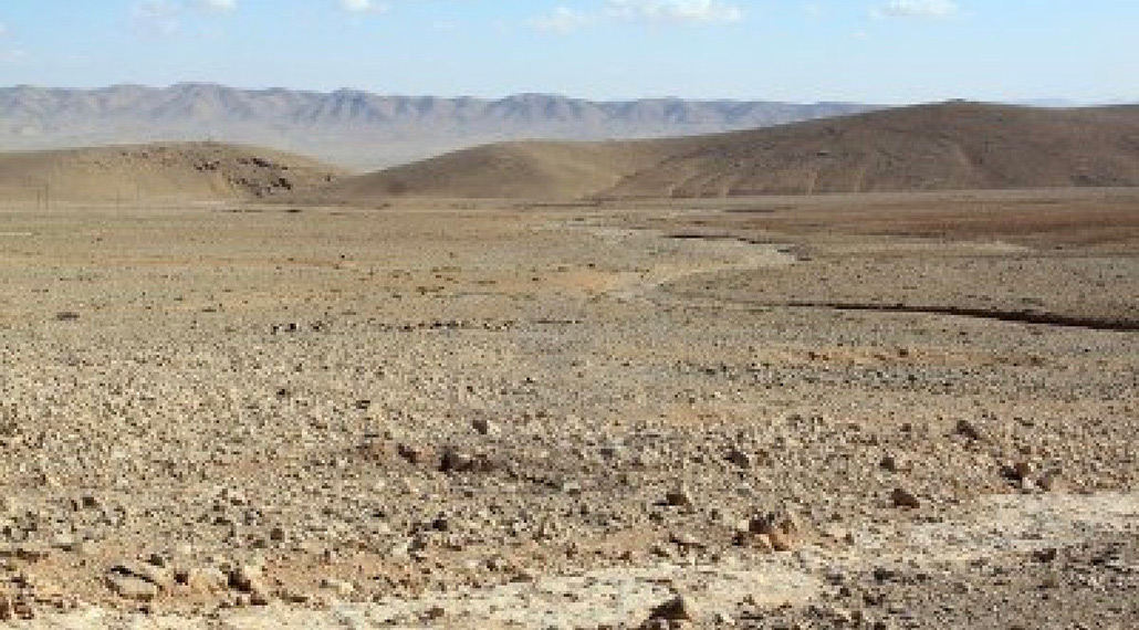 barren landscape of the Holy Land