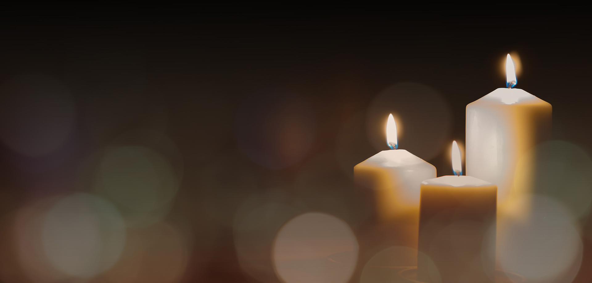 abstract image of funeral candles